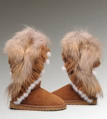 ... UGG Fox Fur Tall 8688 Chestnut Boots ...