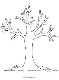 Small Picture Fall Tree Coloring Page FunyColoring