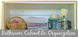 Bathroom Cabinet Organizer Bathroom Cabinet Re Organization Come Home For Comfort
