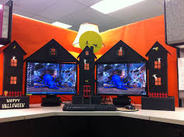 office halloween decorating themes. Plain Office My Cubicle Workspace Built By Clever Husband Designs Of Office Halloween  Decorating Themes And Themes E