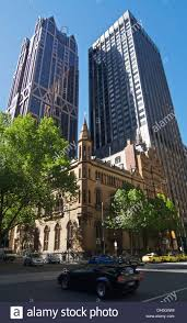 anz melbourne office. ANZ Gothic Bank Building With World HQ And Westpac Melbourne Australia - Stock Image Anz Office