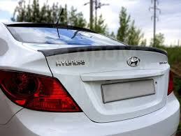 Лип <b>Спойлер на кромку багажника</b> Hyundai Solaris 2010-2014 ...