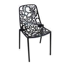 flower designer outdoor chair black moss furniture crows nest