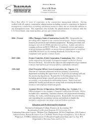 Construction Office Manager Job Description For Resume Works Manager Resume Sales Management Lewesmr 51