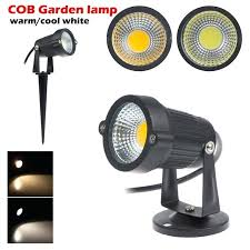 5pcs lot waterproof 12v 85 265v led garden light outdoor 5w cob led lawn 12 volt