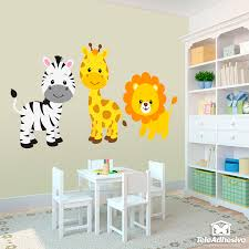 Stickers for Kids Safari zebra, giraffe and lion   WALL STICKERS ...