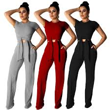 Designer Sweatsuits 2019 Women Designer Tracksuit Short Sleeve Outfits Sweatsuits Legging Set Skinny Sweat Suits Tights Sport Suit Pullover Pants Plus Size From Only2do