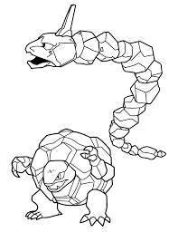 Pokemon Onix Coloring Pages Color Bros