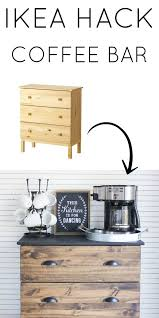 diy modern ikea tarva hack. I Love This Ikea Hack! Create A Simple DIY Coffee Bar Using An Tarva Dresser. The Wood And Black Make Perfect For Modern Farmhouse Style Diy Hack