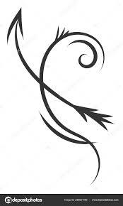 простые черно белые татуировки эскиз гороскоп знак стрельца