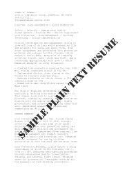 plain text resume examples brilliant plain text resume builder on sample plain text resume rich