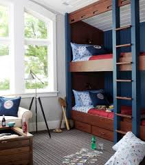 view in gallery sports themed kids bedroom with bunk beds and built in storage