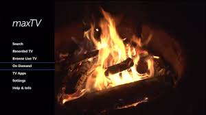 on demand fireplace background