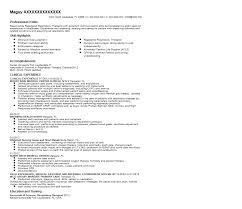 Respiratory Therapy Resume Resume Job