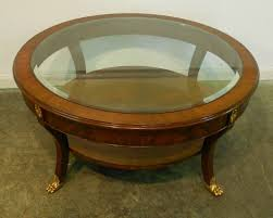 house decorative metropolitan round coffee table 18 small mahogany with glass top brass legs and