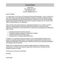 Resume Cover Letter Examples Best Of Best Organizational Development
