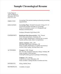 Chronological Resume Example Magnificent Chronological Resume Sample Examples Ninja Turtletechrepairs Co
