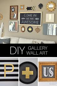 an entire gallery of diy art