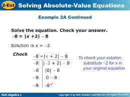 example 2a continued solve the equation check your answer 8 x