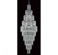 impex cf03220 24 ch new york 24 light cascade chandelier chrome and crystal