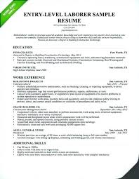 Laborer Resume Objective General Resume Examples General Labor