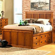 King Platform Bed With Storage Underneath Queen Size Drawers Single ...