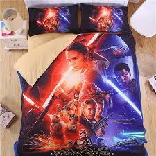 idouillet 5d print star wars bedding set for kids reversible duvet cover flat sheet and 2