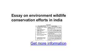 essay on environment wildlife conservation efforts in essay on environment wildlife conservation efforts in google docs