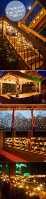 outdoor deck lighting ideas. how to hang outdoor lights without walls what an easy and inexpensive way add magic your deck or patio outside fun pinterest decking lighting ideas b