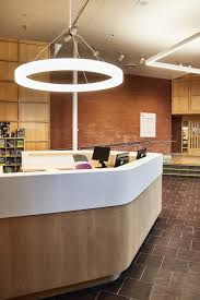 the lobby design included a new reception desk and augmented lighting to enhance general isolate the existing track system for exhibition art gallery n54