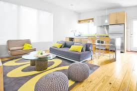 Yellow And Grey Living Room Interior Yellow Walls Grey Couch Living Room Together With