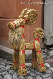 Traditional Finnish Christmas decorations in Turku