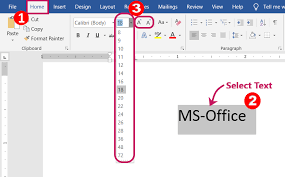 Font Text Formatting In Microsoft Word 2019 2016 2013