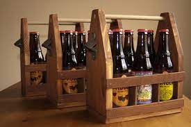 how to make a wooden beer caddy