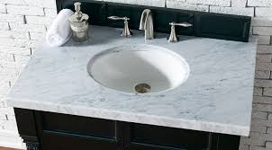 james martin single 36 inch carrara white marble countertop oval sink 4cm thick