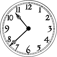 Printable Blank Clock Face Clipart Library