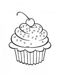 Small Picture coloring pages cups Free Printable Cupcake Coloring Pages For