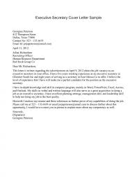 Sample Cover Letter For Executive Secretary Position Image With
