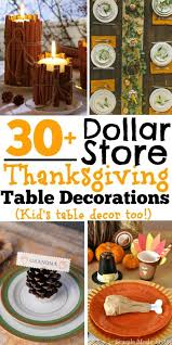 You can easily find inexpensive Thanksgiving decorations at the dollar  store, Target's One Spot or