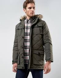 Brave Soul | Brave Soul Quilted Parka Jacket with Faux Fur Trim Hood &  Adamdwight.com