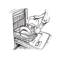 dishwasher clipart black and white. pin loading clipart black and white #3 dishwasher m