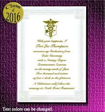 Nursing Graduation Party Invitations Medical Or Nursing School Graduation Invitations Item Da7409