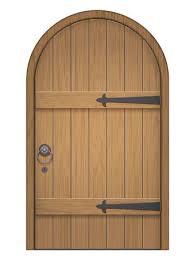 wooden door clipart. Modren Door Old Wooden Arch Door Closed Door Made Of Planks With Iron Hinges On Wooden Door Clipart O