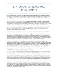 statement of teaching philosophy statement of teaching philosophy a major component of my professional practice includes information literacy instruction