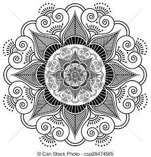 Henna Pattern Beauteous Indian Henna Tattoo Flower Pattern