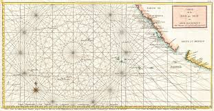Ocean Charts Bc File 1750 Anson Map Of Baja California And The Pacific W