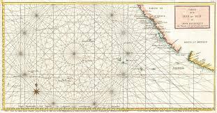 California Nautical Charts File 1750 Anson Map Of Baja California And The Pacific W