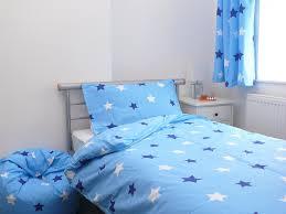 blue stars cotbed toddler duvet cover pillowcase 120x150cm co uk kitchen home