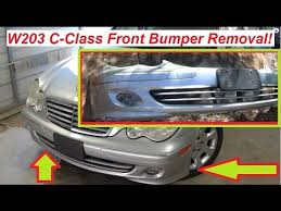 mercedes w203 front bumper removal and replacement! c230 c320 c180  at 04 Mercedes Benz Kompressor Sport Foglight Wire Harness
