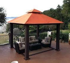 12 by 12 canopy gazebo design patio gazebo gazebo with metal roof orange canopy dark brown